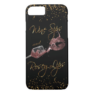 Wine Sips and Rosey Lips 2 - Dusty Rose iPhone 8/7 Case