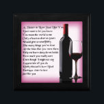 "Wine   Sister in Law  Poem Keepsake Box<br><div class=""desc"">A great gift for a wine loving sister in law</div>"