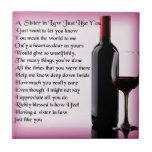 """Wine   Sister in Law  Poem Tile<br><div class=""""desc"""">A great gift for a wine loving sister in law</div>"""