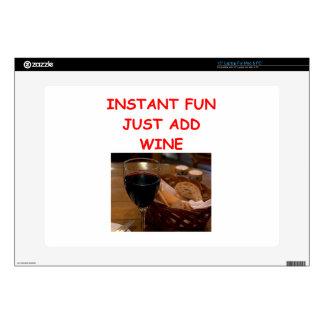 wine laptop skin