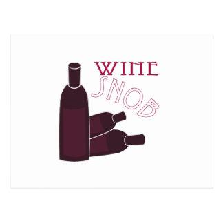 Wine Snob Postcard