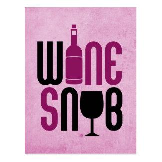 Wine Snob Post Cards