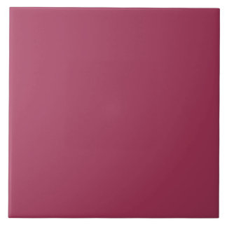 Wine Solid Color Large Square Tile