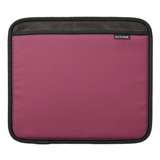 Wine Solid Color Sleeve For iPads