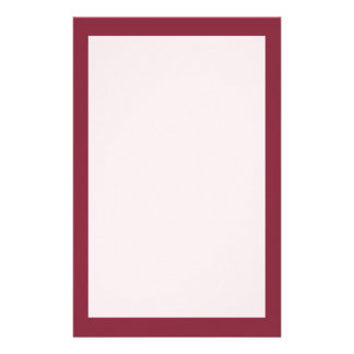 Wine Solid Color Stationery Paper