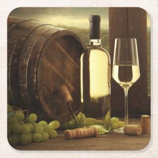 Wine Square Paper Coaster