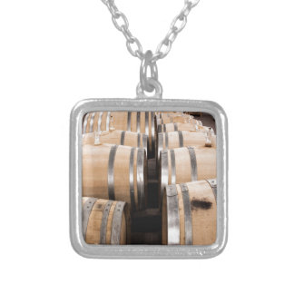 Wine Square Pendant Necklace