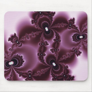 Wine Stain Fractal Mouse Pad