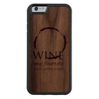 Wine Stain Ring Wood iPhone 6 Carved® Walnut iPhone 6 Bumper Case