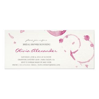 WINE STAINS | BRIDAL SHOWER INVITATION