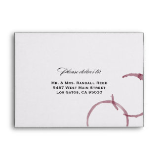 Wine Stains Winery Vineyard Wedding Envelope
