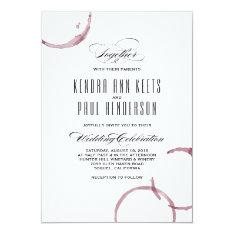 Wine Stains Winery Vineyard Wedding Invitation at Zazzle