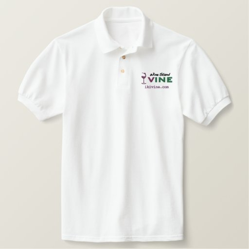 wine Stand VINE original logographic polo shirt