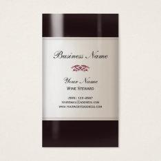 Wine Steward  Business Card at Zazzle