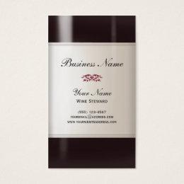 Liquor store business cards templates zazzle wine steward business card colourmoves