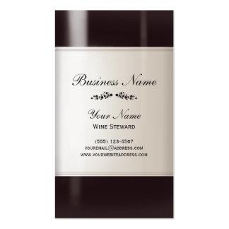 Wine Steward Wine Bottle Business Card