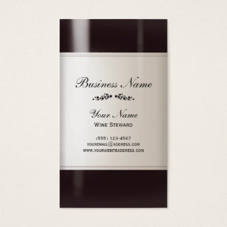 Wine Steward Wine Bottle Business Card
