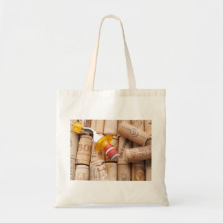 Wine Stopper On Laying Down On Corks Budget Tote Bag