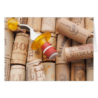 Wine Stopper On Laying Down On Corks Card