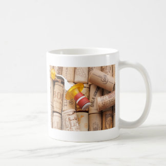 Wine Stopper On Laying Down On Corks Coffee Mug
