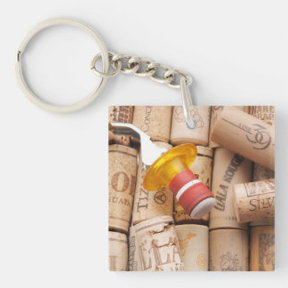 Wine Stopper On Laying Down On Corks Single-Sided Square Acrylic Keychain