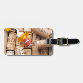 Wine Stopper On Laying Down On Corks Tag For Luggage