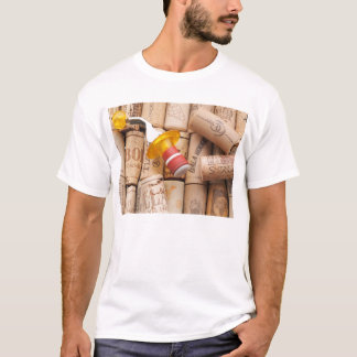 Wine Stopper On Laying Down On Corks T-Shirt