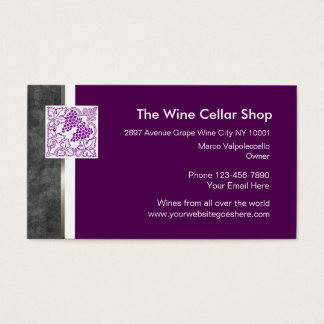 Wine store business cards templates zazzle for Wine business cards