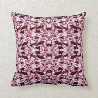 Wine Swirl Abstract Throw Pillow