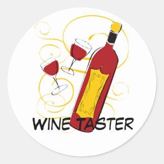 Wine Taster Classic Round Sticker