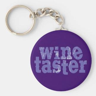 Wine Taster Basic Round Button Keychain
