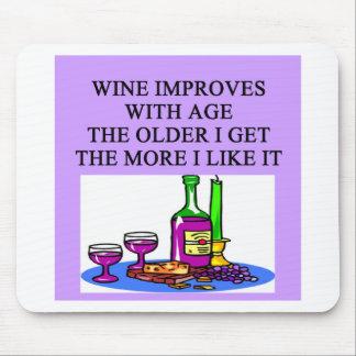 WINE taster lover joke Mouse Pad