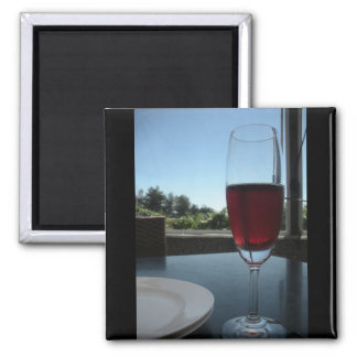 Wine Tasting 2 Inch Square Magnet