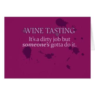 Wine Tasting: A Dirty Job Card