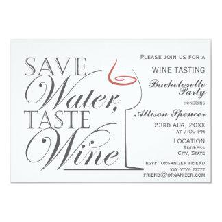 Wine tasting Bachelorette Party Invitation design