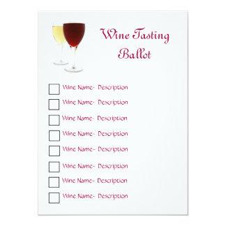 Wine Tasting Ballot Card