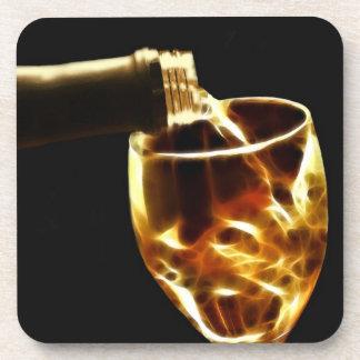 Wine tasting beverage coaster