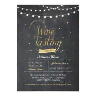Wine Tasting Birthday Party Chalk ANY AGE Invite