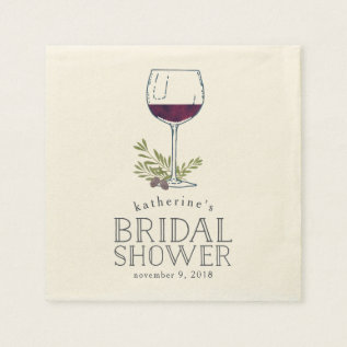 Wine Tasting Bridal Shower Paper Napkin at Zazzle