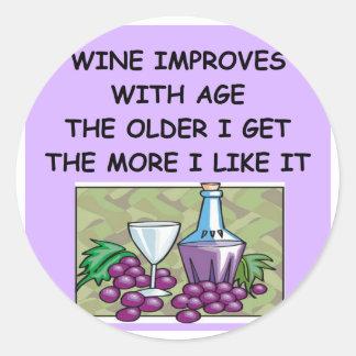 wine tasting classic round sticker