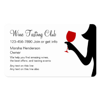 Wine Tasting Club Business Cards