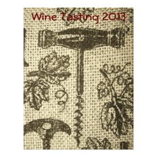 Wine Tasting Corkscrew Scrapbooking Paper