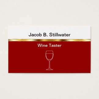 Wine Tasting Critic Business Cards