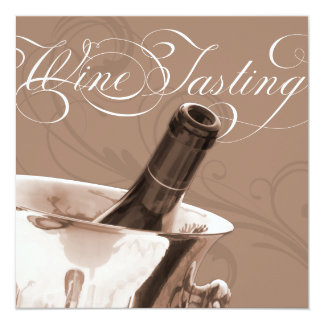 "Wine Tasting Dinner Party Invitation 5.25"" Square Invitation Card"