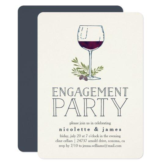 Wine Tasting Engagement Party Invitation Zazzlecom