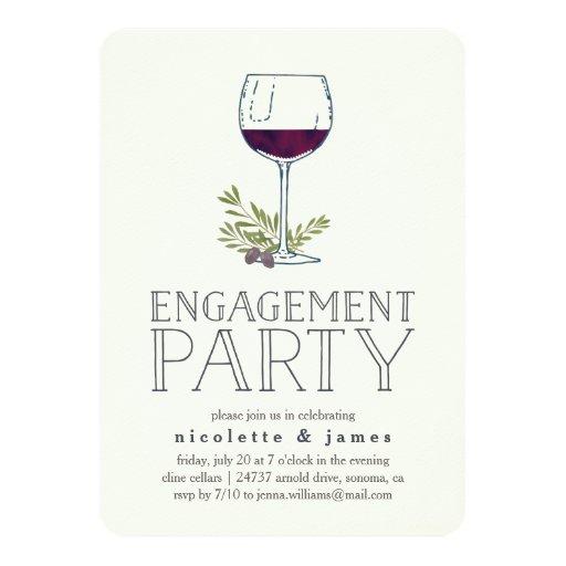 Wine tasting engagement party invitation zazzle for Engagement party invitations with photo