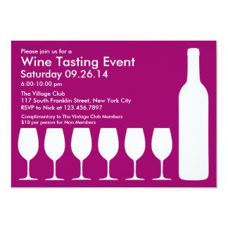 Wine Tasting Event Flat Invitation