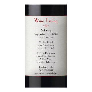 Wine Tasting Event Invitation