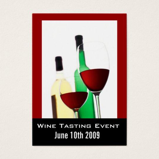 Wine Tasting Event Mini Invite Cards