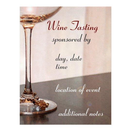 Wine Tasting Flyer Zazzle Com